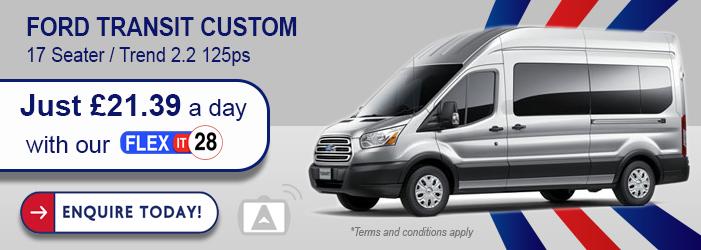 ford transit custom mini bus hire wigan
