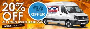 long vans rental offer wigan, warrington