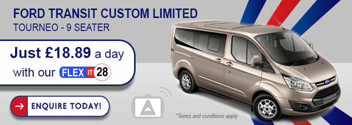 transit custom mini bus rental wigan