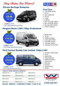 flexible van rental wigan