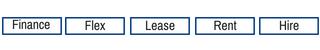 Finance, Flex, Lease, Rental, Hire