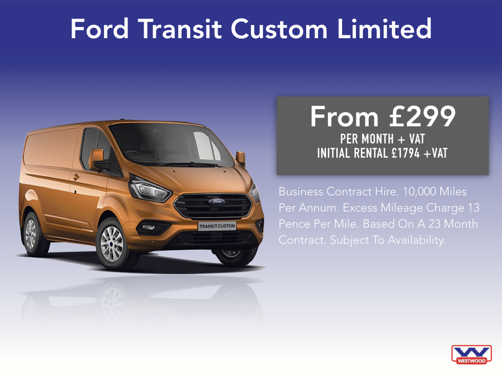 b641880437 Contract Hire The New Ford Transit Custom Limited