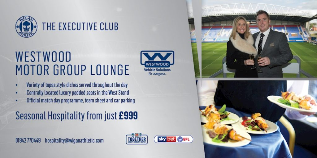 Wigan Athletic Match Day Hospitality