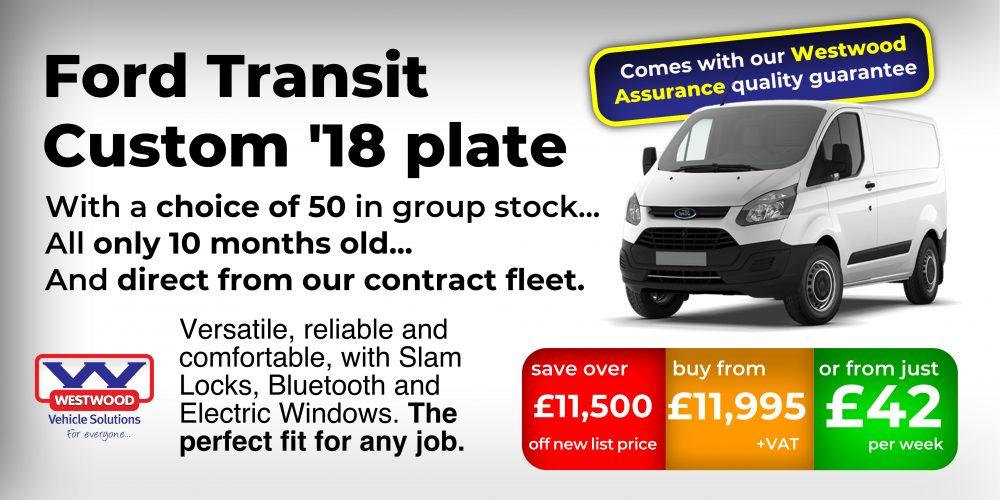 Ford Transit Custom 18 plate - promo 1