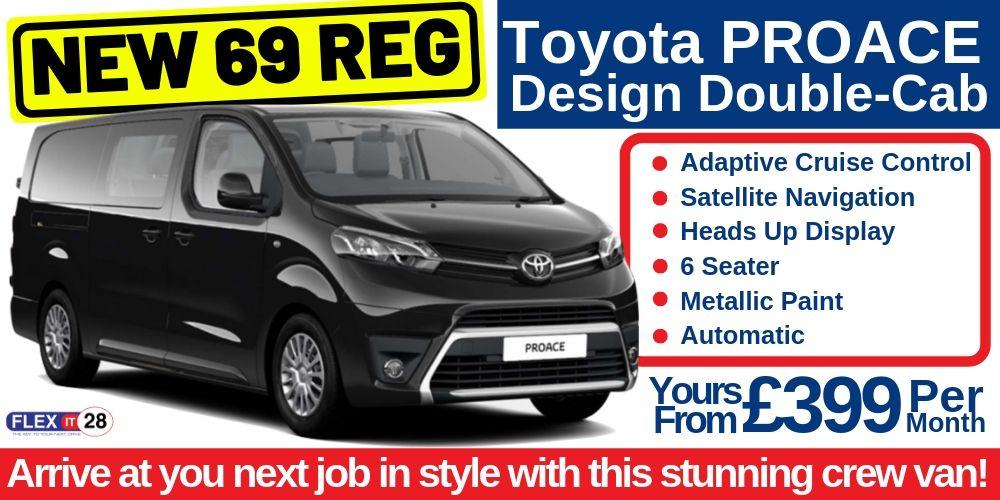 69 Plate Toyota PROACE Design Crew Cab