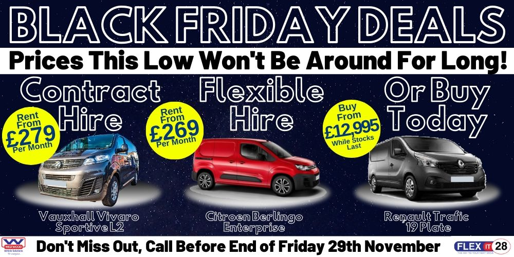 Black Friday Sales, Flexible Hire, Contract Hire