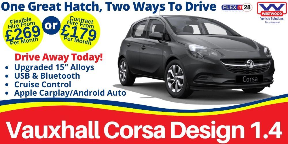 Vauxhall Corsa Design Car Hire Slider