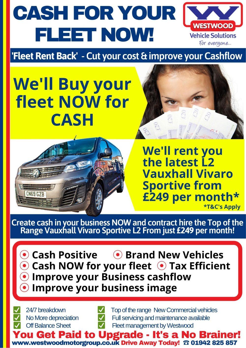 Fleet Swap Vauxhall Vivaro L2 Sportive