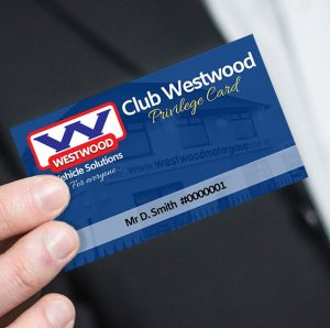 Club Westwood Privilege Card Close Up