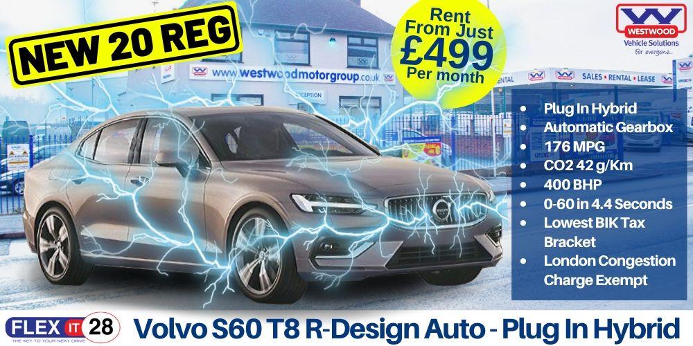Volvo S60 T8 R-Design Auto Hybrid Car Hire Wigan