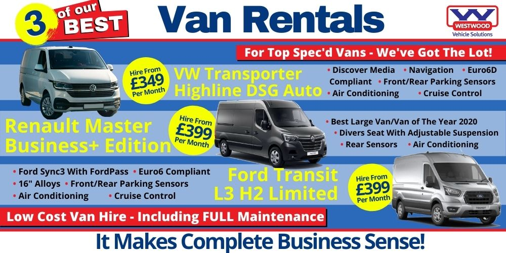 3 of the Best van hire wigan - cheap van hire
