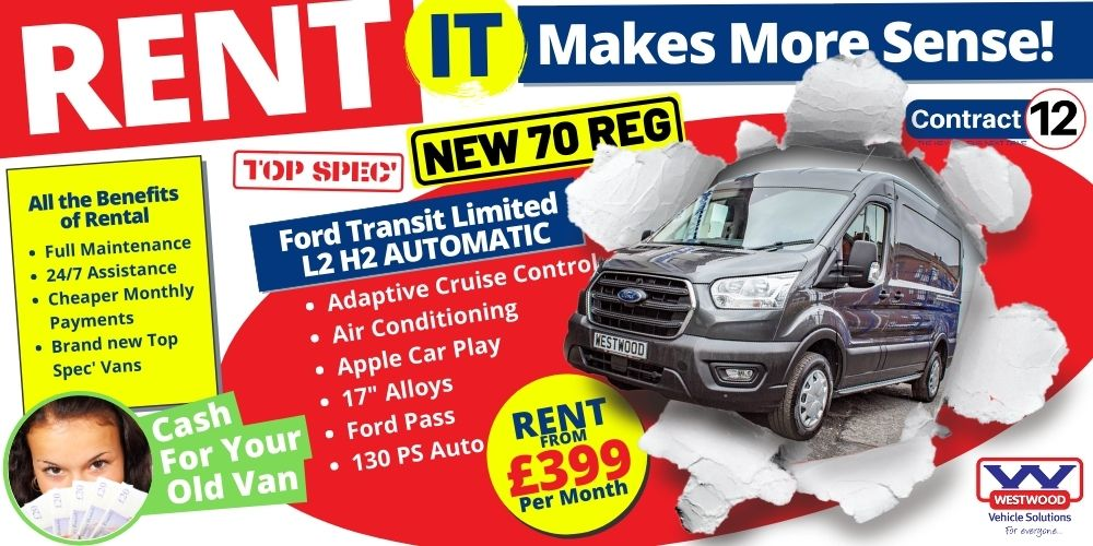 Ford Transit Limited L2 H2 Automatic Van Hire Wigan