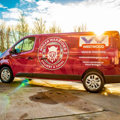 Westwood Motor Group Wigan Warriors Kit Van Side