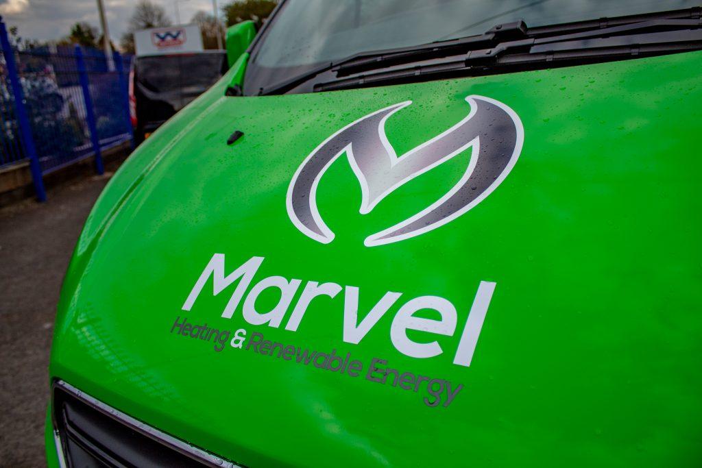 Marvel Heating New Logo