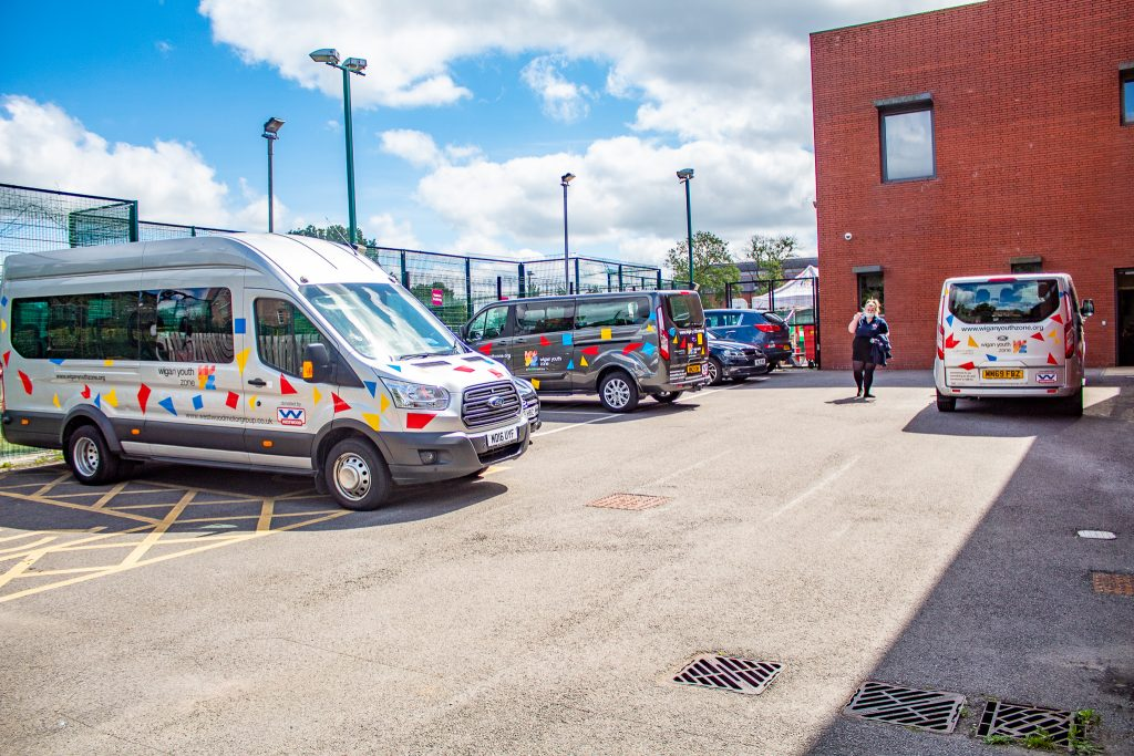 Wigan Youth Zone 3 minibuses