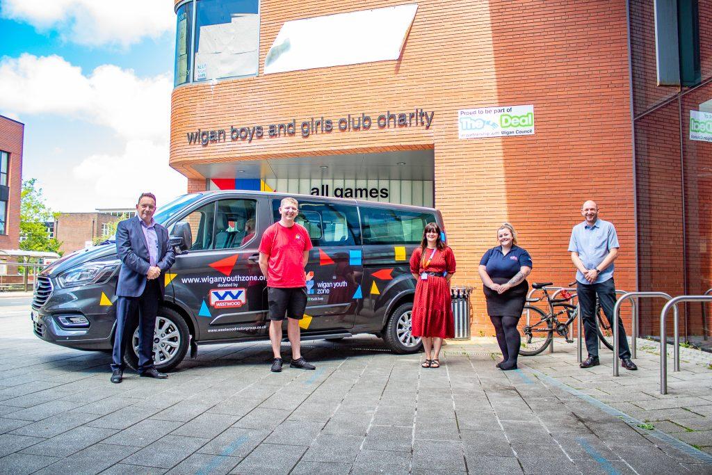 Wigan Youth Zone Minibus Donation