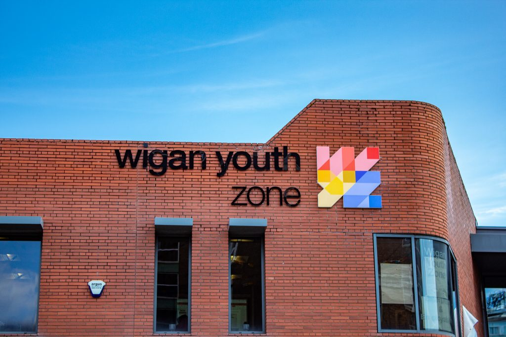 Wigan Youth Zone Sign 2021