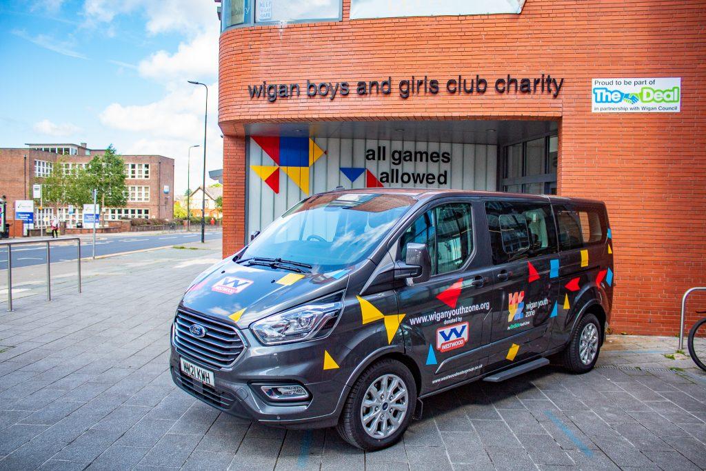 Wigan Youth Zone Tourneo Minibus